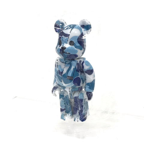 DS! A Bathing Ape Bape x Medicom 100% ABC Camo Bearbrick Blue