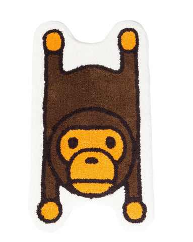 DS! A Bathing Ape Bape Baby Milo Rug Mat Brown