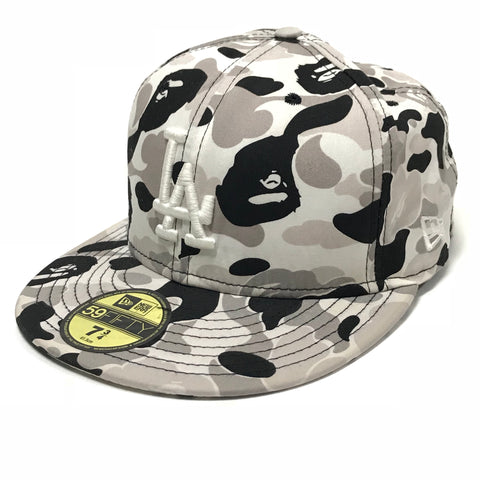 [7 3/4] A Bathing Ape Bape x New Era LA ABC Camo Cap White