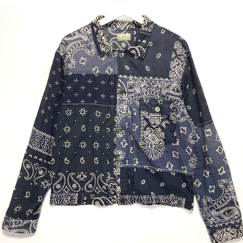 [XL] Kapital Kountry Bandana Shirt Jacket Navy