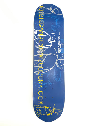 Futura x Zoo York Robbie Gangemi Pointman Deck Blue
