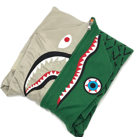 [Women's S] A Bathing Ape Bape x Ambush Shark Alligator Full Zip Hoodie