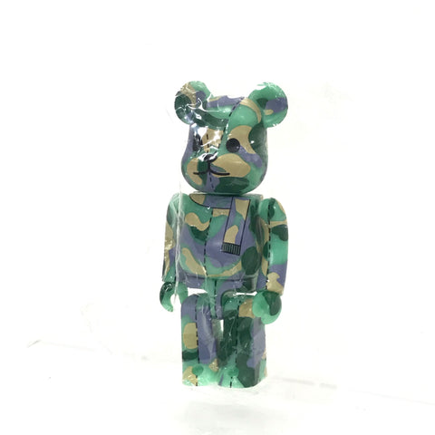 DS! A Bathing Ape Bape x Medicom 100% ABC Camo Bearbrick Teal