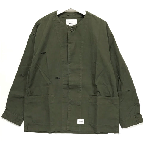 [S] DS! WTaps18AW SKIT Collarless Military Smock Shirt
