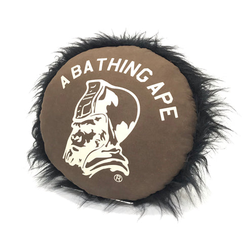 A Bathing Ape Bape Vintage 'General Ursus' Gorilla Fur Cushion