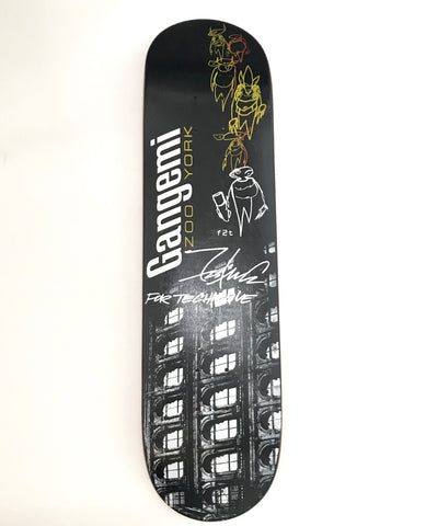 (Hand-Signed) Futura x Zoo York Robbie Gangemi Pointman Deck Black