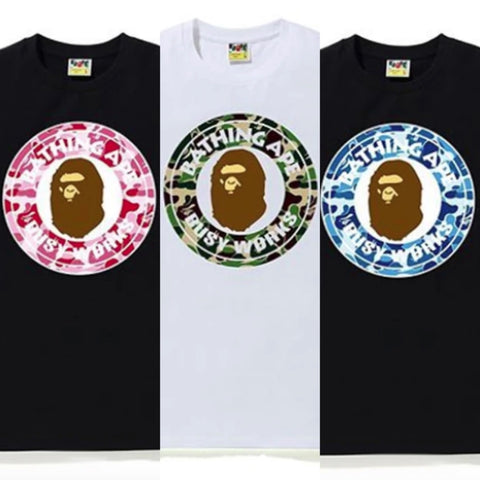 [M or L] DS! A BATHING APE BAPE ABC CAMO BUSY WORKS TEE