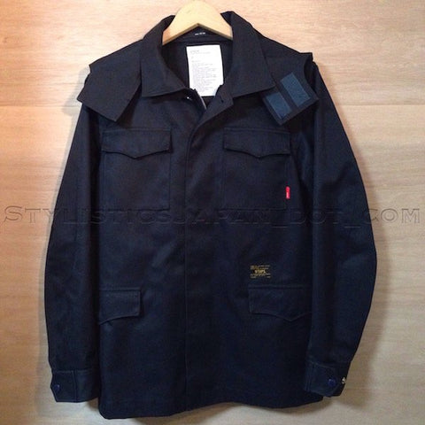 [M] WTaps Cotton Burberry M-65 Jacket Navy