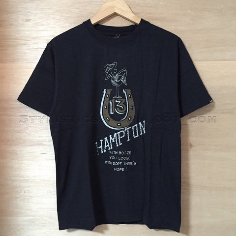 [S] DS!  Neighborhood Hampton Horseshoe Tee S/S Black