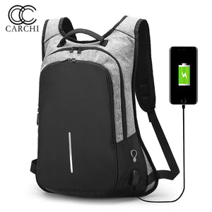 Anti-Theft Backpack With USB Port 15.6inch Laptop Compartment Fashion Travel School Bag - Aerosumo