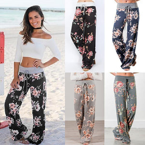 Ladies Floral Comfy Jogger Pants - Aerosumo