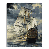 Sailing Boat DIY Painting-By-Numbers - Aerosumo