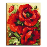 Red Rose Flower DIY Painting-By-Numbers - Aerosumo