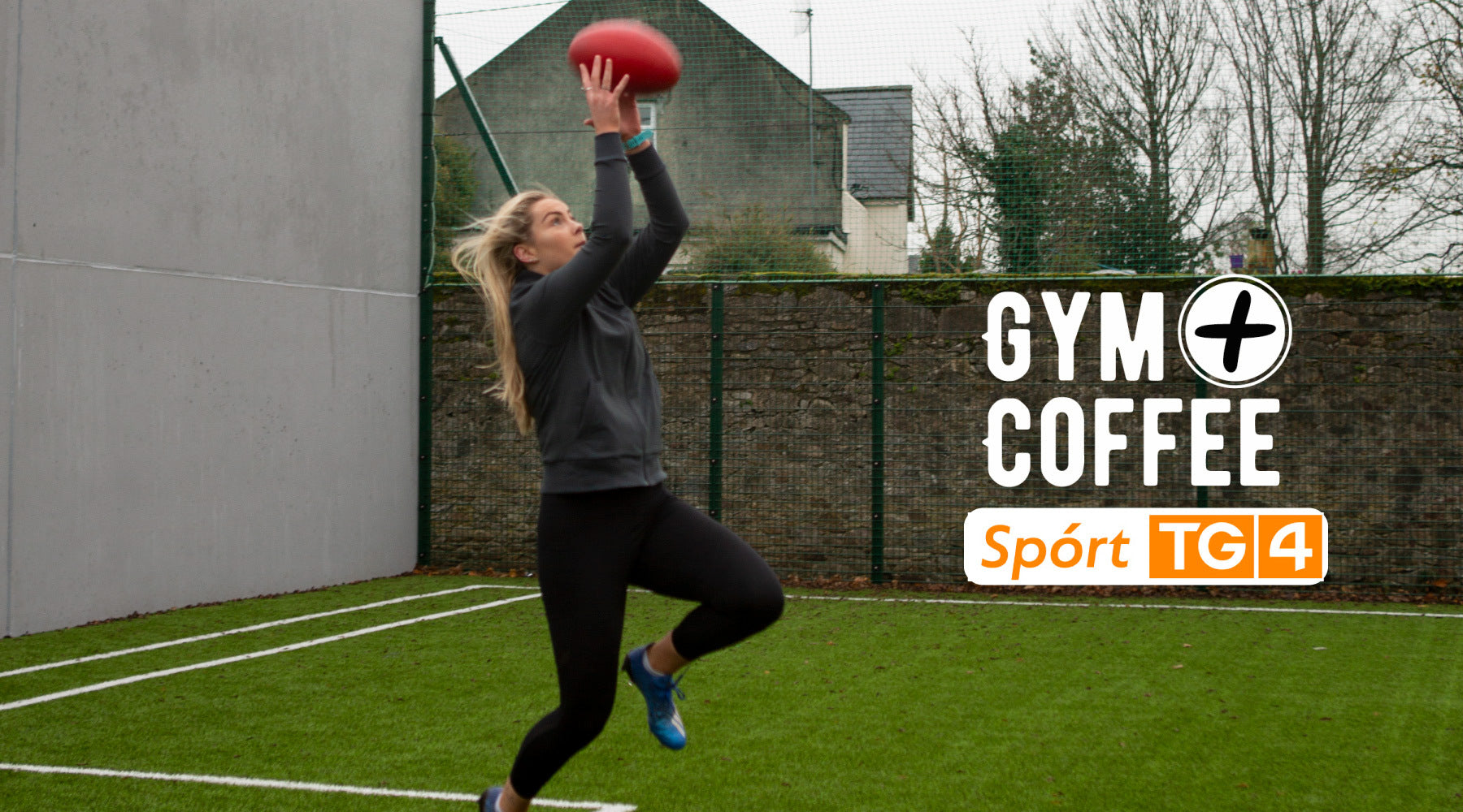 Irish AFWL Player Aisling McCarthy in Lilac Gym+Coffee hoodie