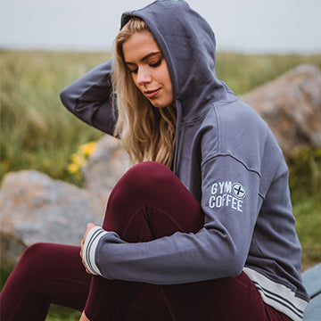 Women's Retro Pullover Hoodie in Stone Blue