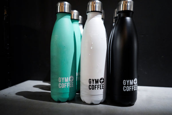 Gym+Coffee Stainless Steel Reusable Water-bottles - photo: Lisa O'Brien Photography