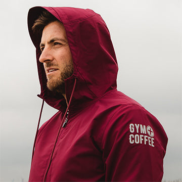 Gym + Coffee Summit Jacket Burgundy