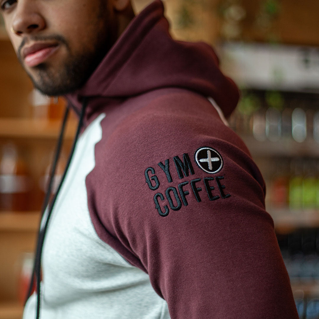 Men's 2Tone Grape Hoodie by Gym+Coffee