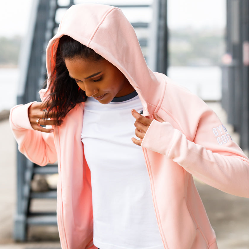 Gym Plus Coffee Shop The Connect Collection New Season Spring Summer Shop Womens HoodIE iCE PINK