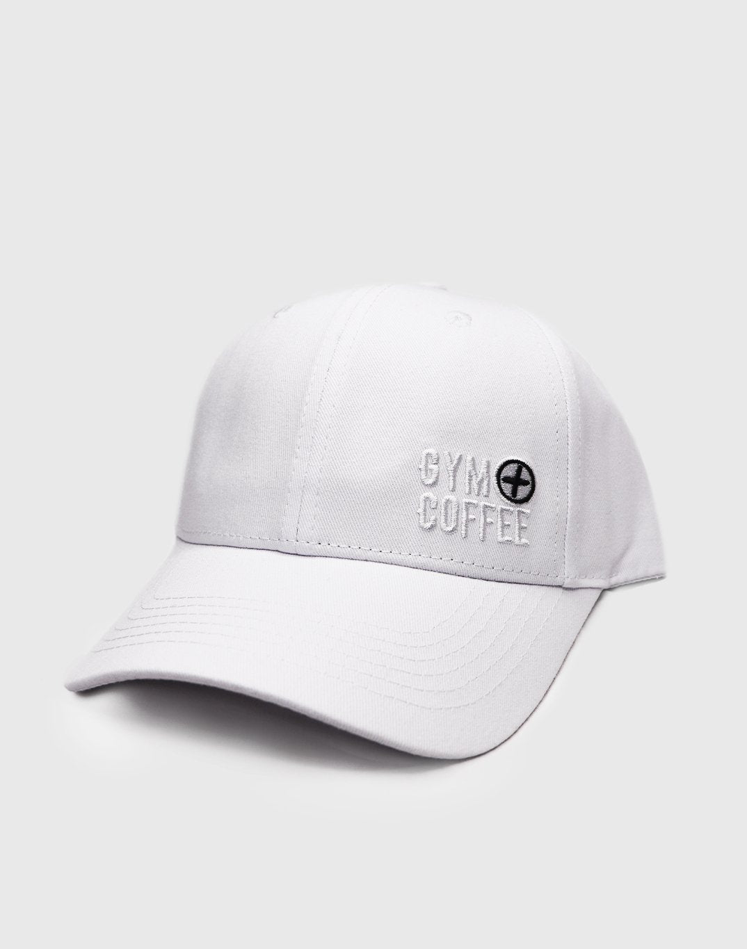 Gym Plus Coffee Hat Hats Off Cap in White Designed in Ireland