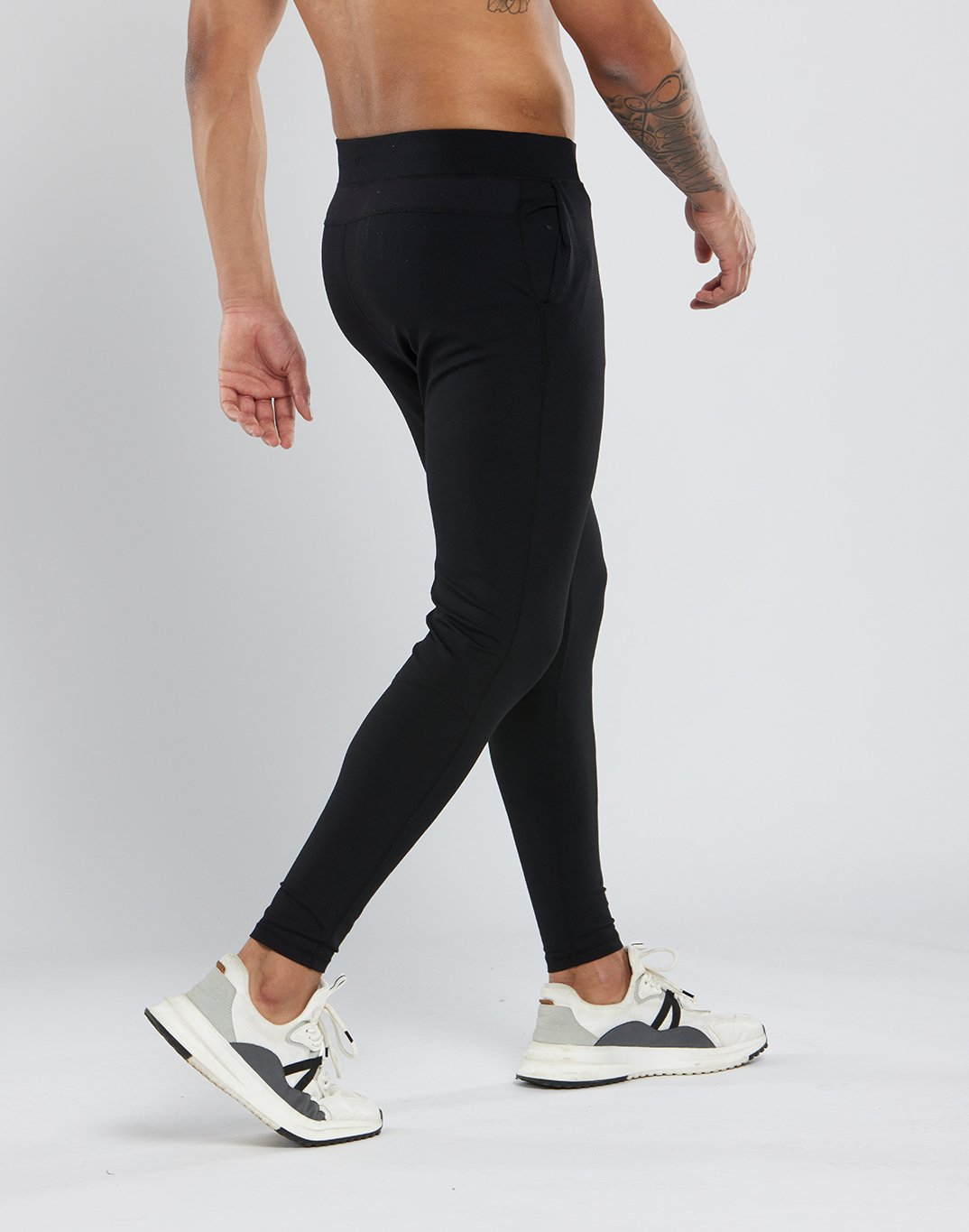 Gym Plus Coffee Joggers Mens Run the City Joggers in Black Designed in Ireland