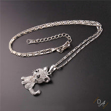 Cat Pendant with Austrian Rhinestone Crystals