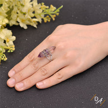 Fluorite Quartz Healing Ring (2 pcs.)