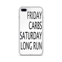 Friday Carbs Saturday Long Run iPhone Case