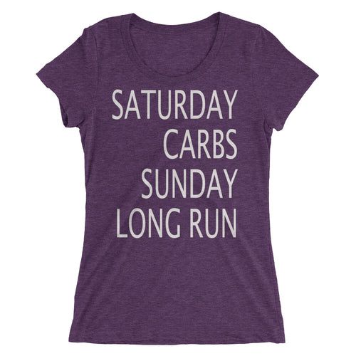 Saturday Carbs Sunday Long Run T-Shirt