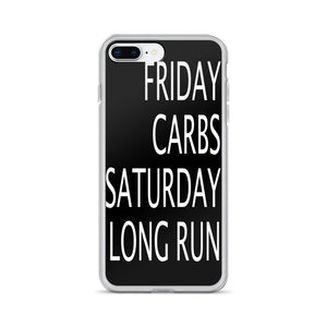 Friday Carbs Saturday Long Run Black iPhone Case