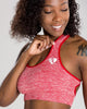 MOVE SEAMLESS SPORTS BRA | RED MARL