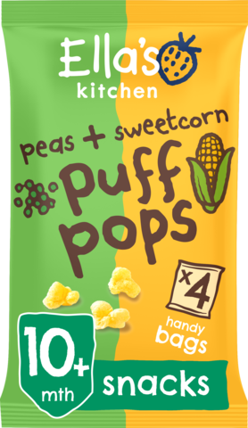 PEAS & SWEETCORN PUFF POPS (CASE OF 5)
