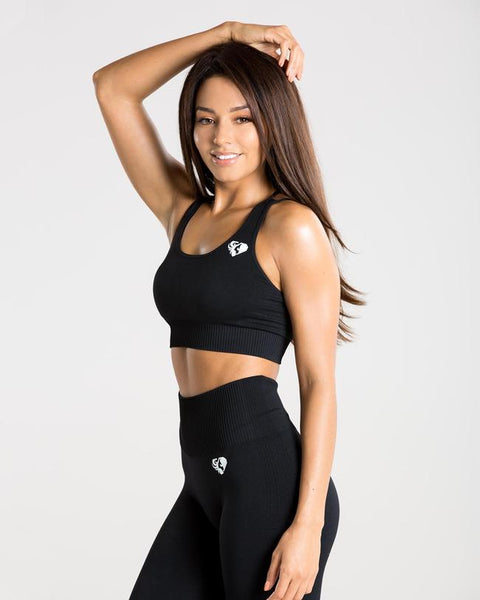 POWER SEAMLESS SPORTS BRA | BLACK