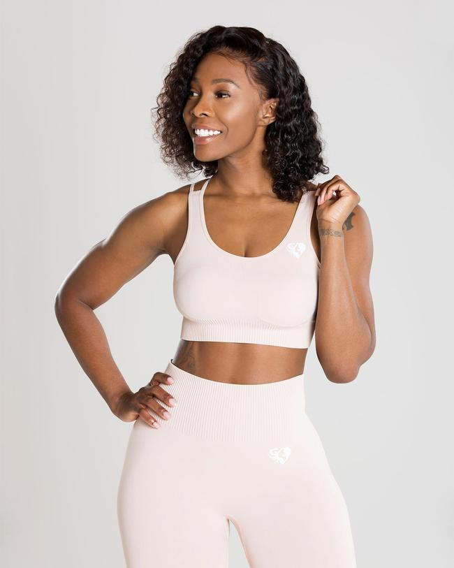 PRE-ORDER | POWER SEAMLESS SPORTS BRA | NUDE