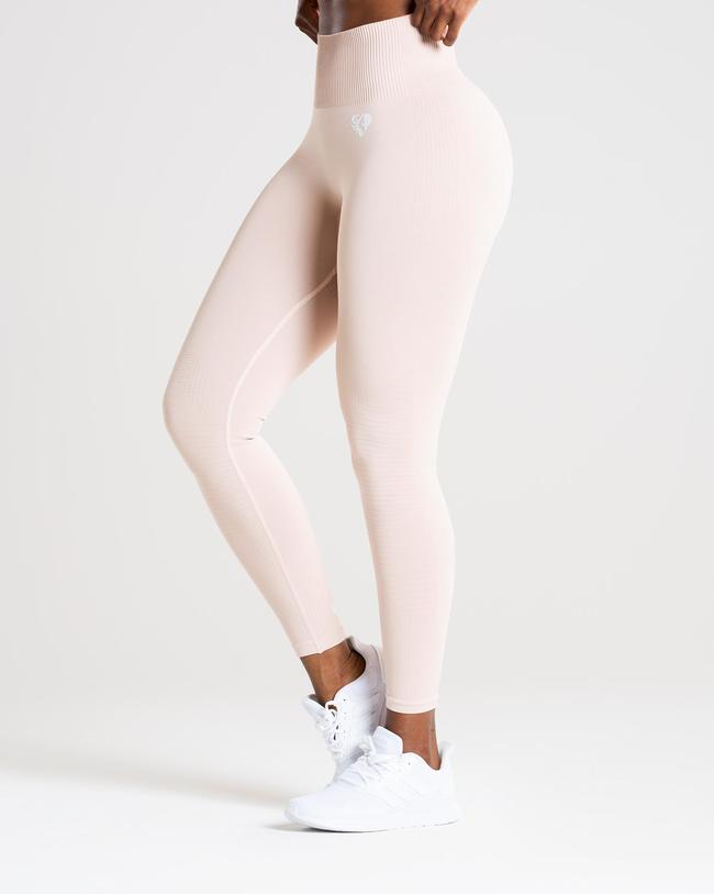 POWER SEAMLESS LEGGINGS | NUDE