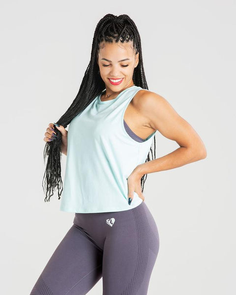 POWER TANK TOP | AQUA
