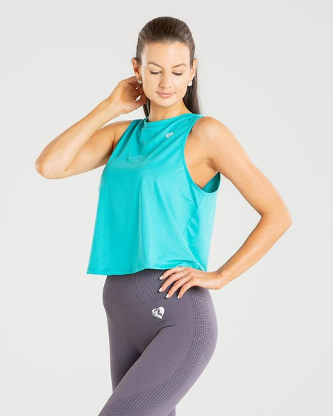 POWER TANK TOP | TURQUOISE