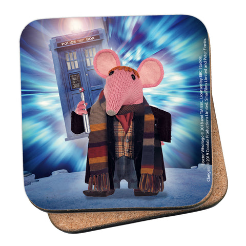 DoppelClangers - Fourth Doctor Coaster