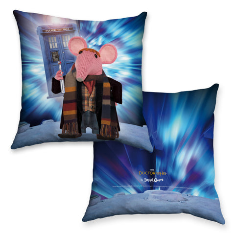DoppelClangers - Fourth Doctor Cushion