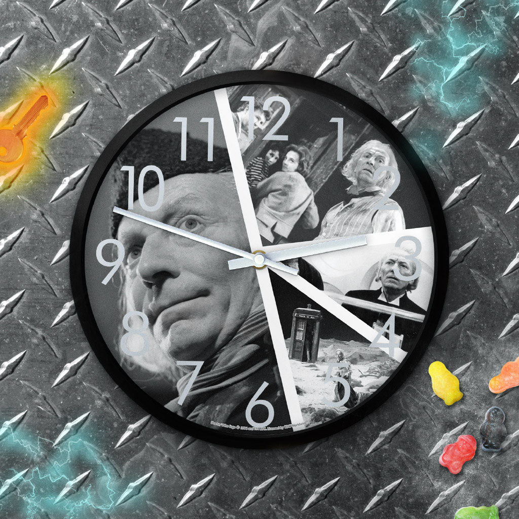 First Doctor Photographic Clock (Lifestyle)