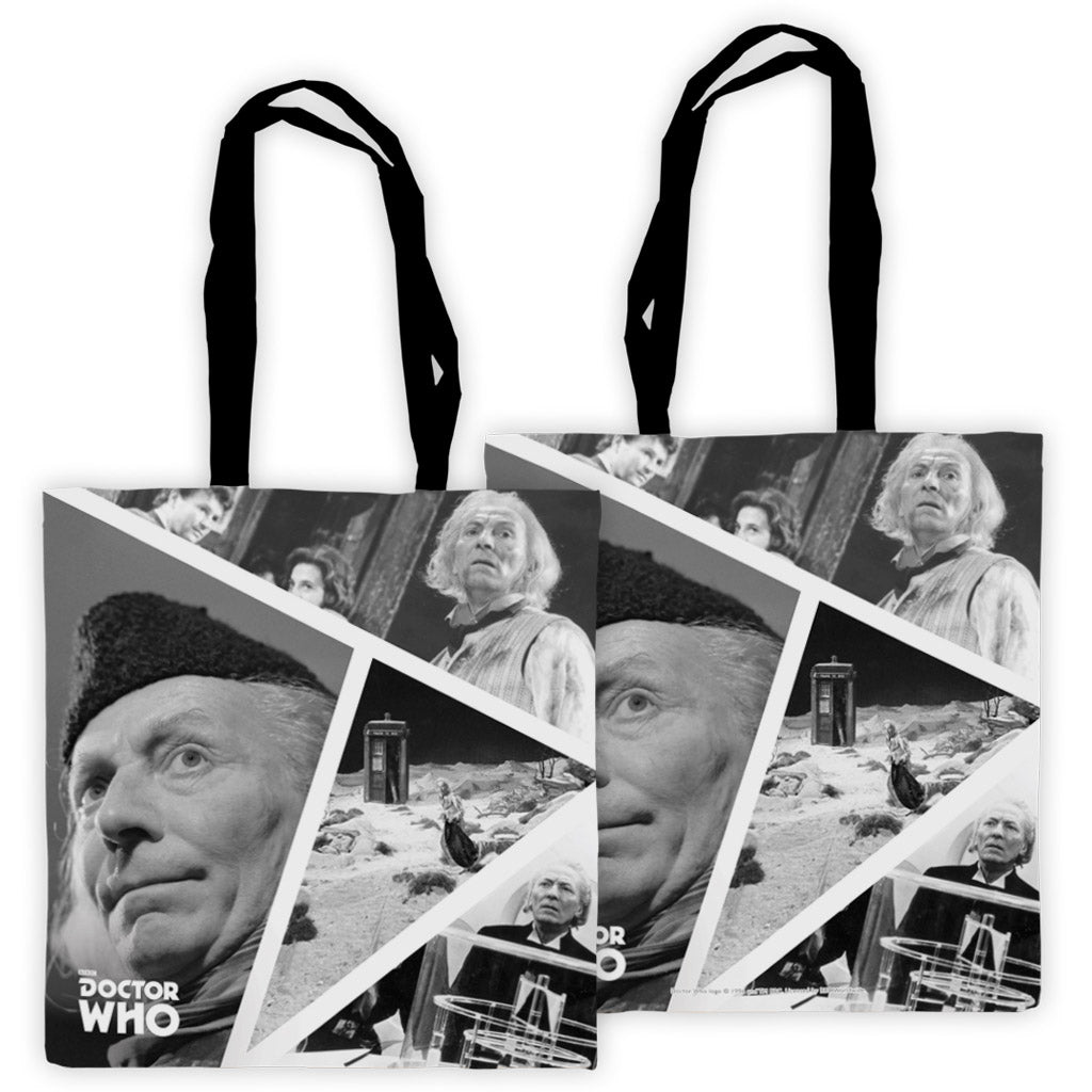 First Doctor Photographic Edge to Edge Tote