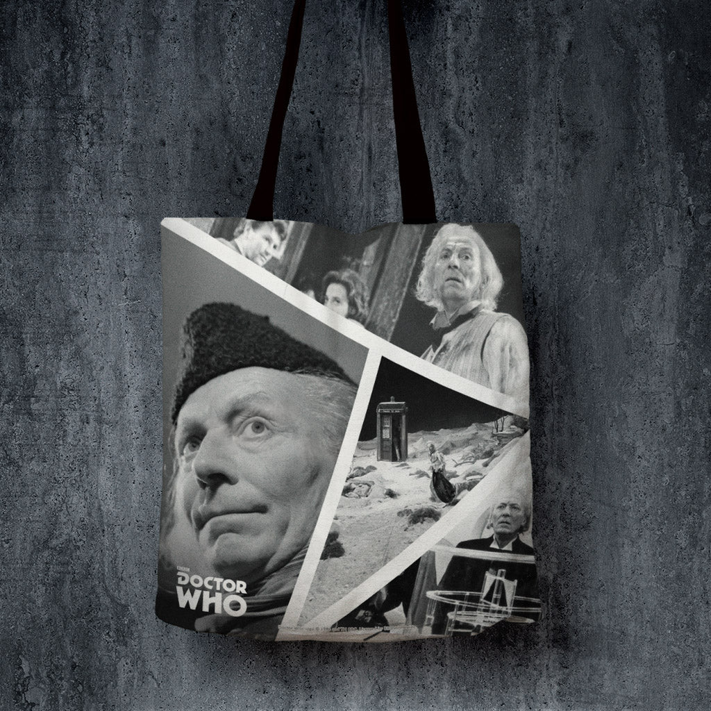 First Doctor Photographic Edge to Edge Tote (Lifestyle)