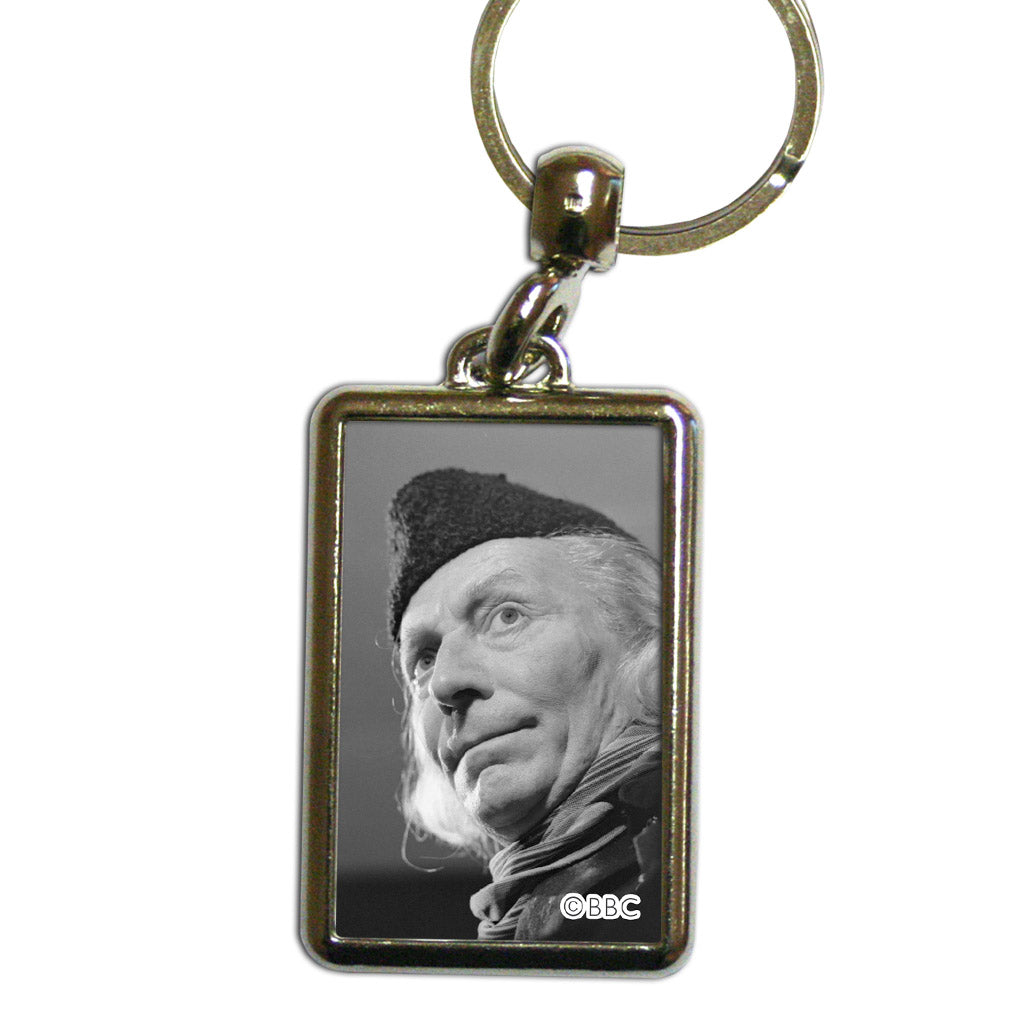 First Doctor Photographic Metal Keyring