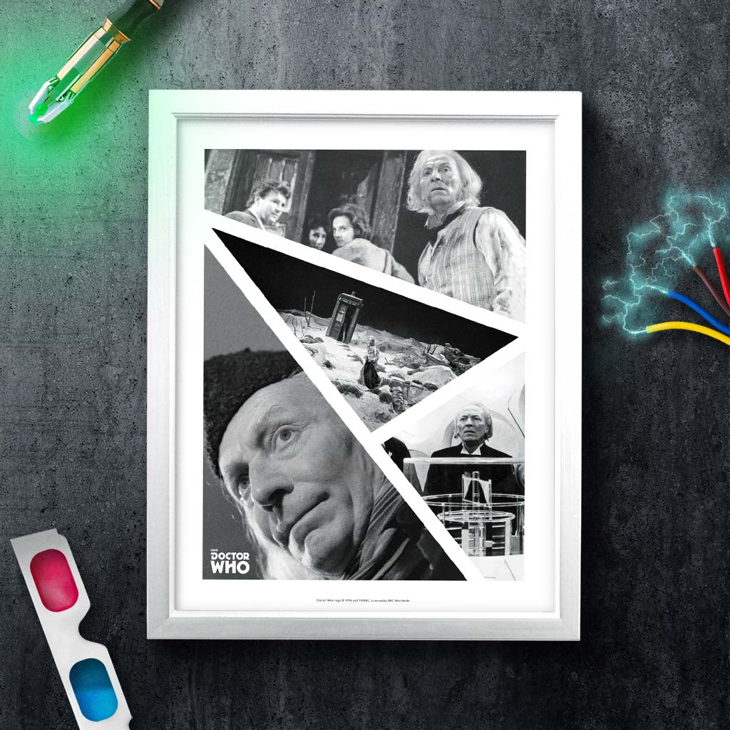 First Doctor Photographic White Framed Art Print (Lifestyle)