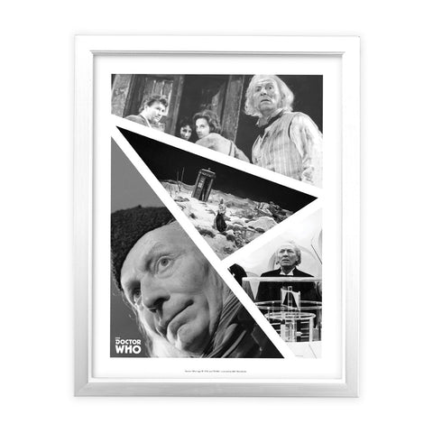 First Doctor Photographic White Framed Art Print