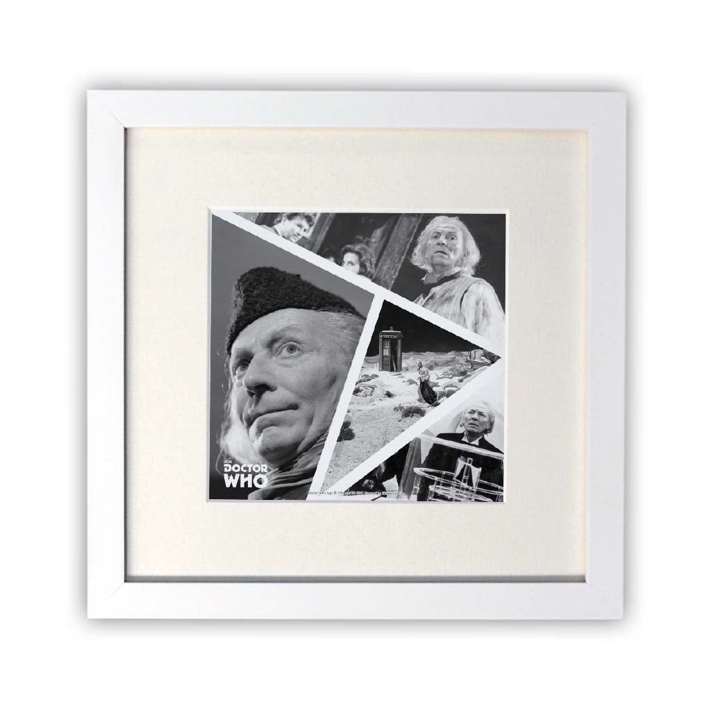 First Doctor Photographic Square White Framed Print
