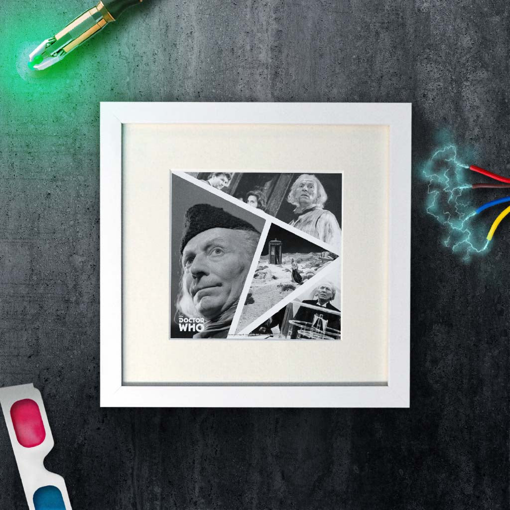 First Doctor Photographic Square White Framed Art Print (Lifestyle)