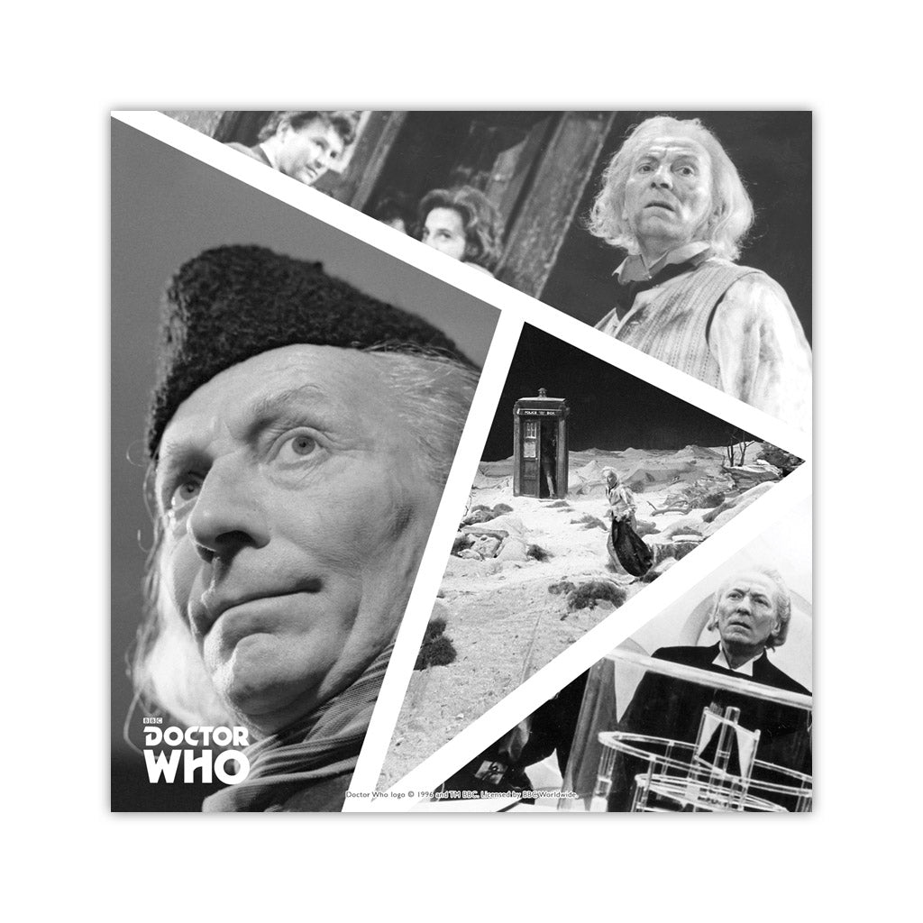 First Doctor Photographic Square Art Print