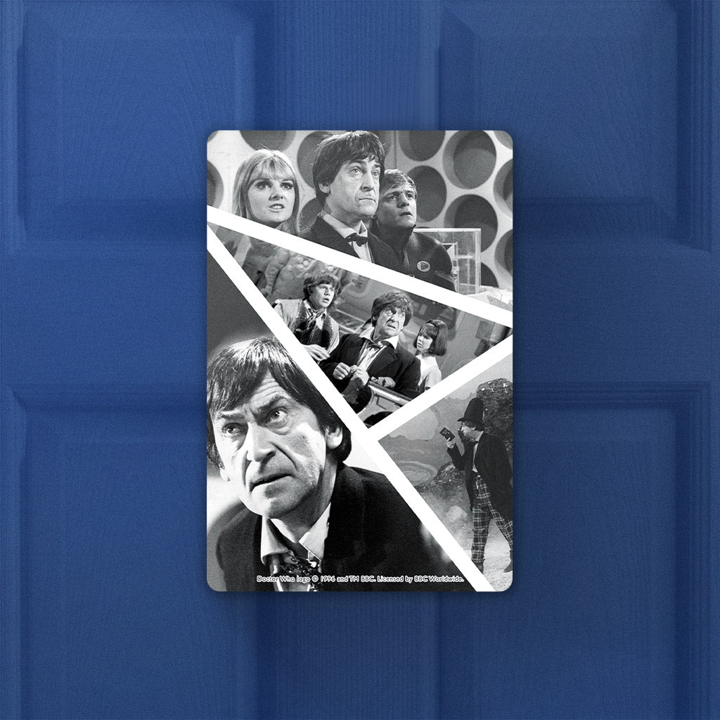 Second Doctor Photographic Door Plaque (Lifestyle)