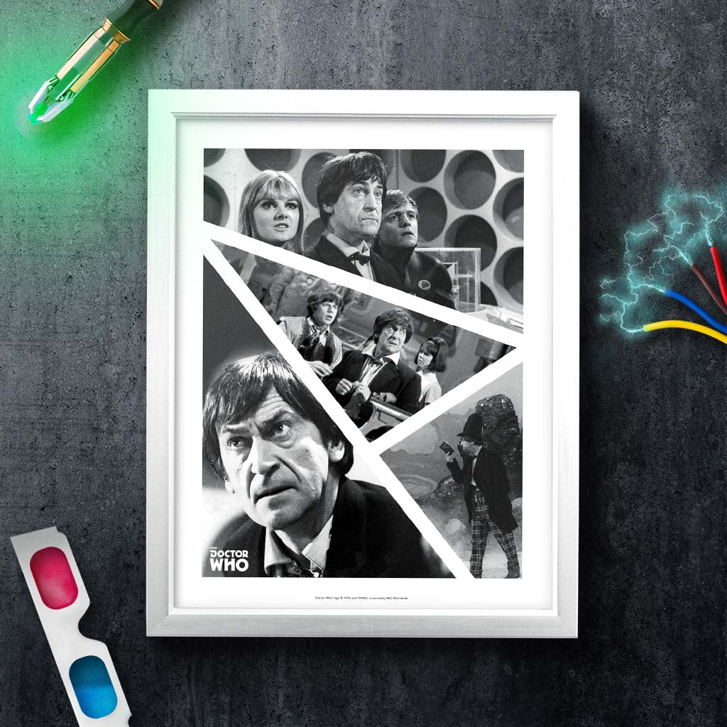 Second Doctor Photographic White Framed Art Print (Lifestyle)